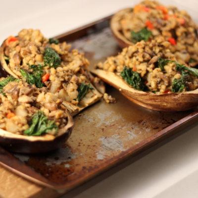 Vegetarian Stuffed Eggplant