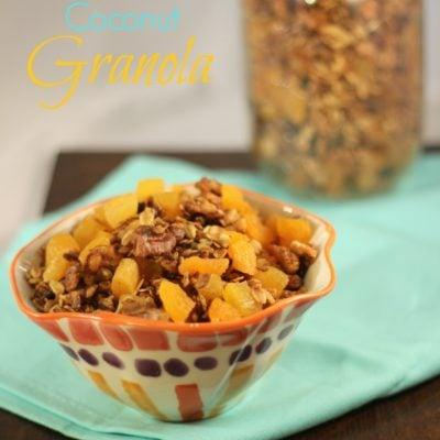 Vegan Apricot Coconut Granola