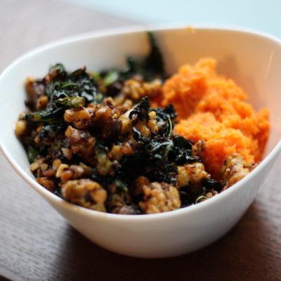 Vegan Smoky Tempeh Kale Stir Fry