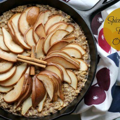 Spiced Pear Baked Oatmeal