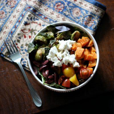 Greek Salad with Roasted Vegetables