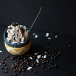 Coffee and Dark Chocolate Coconut Ice Cream | Dietitian Debbie Dishes