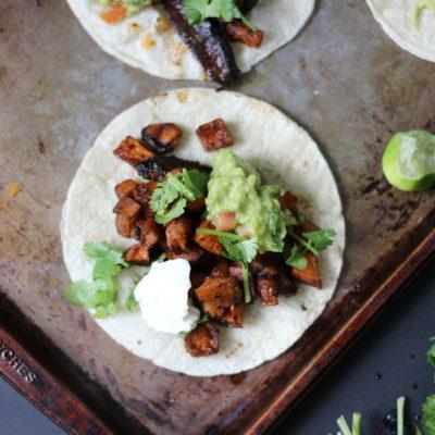 Marinated Mushroom and Sweet Potato Tacos