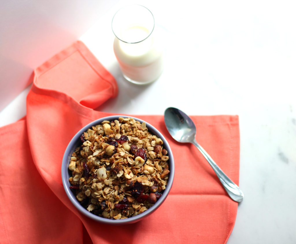 Quinoa, Coconut, and Hazelnut Granola | Dietitian Debbie Dishes
