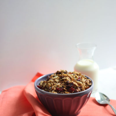 Red Quinoa, Coconut, and Hazelnut Granola