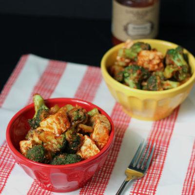 Tofu and Broccoli Ketchup Stir Fry