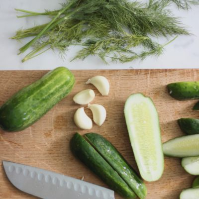 Homemade Refrigerator Dill Pickles