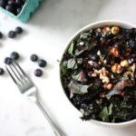 Blueberry, Barley, and Hazelnut Kale Salad