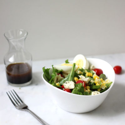 Simple Summer Salad With Balsamic Vinaigrette