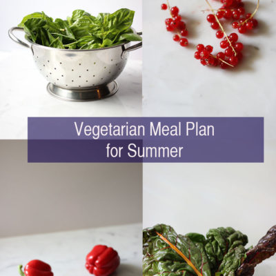 Vegetarian Meal Plan for Summer: August 2-9