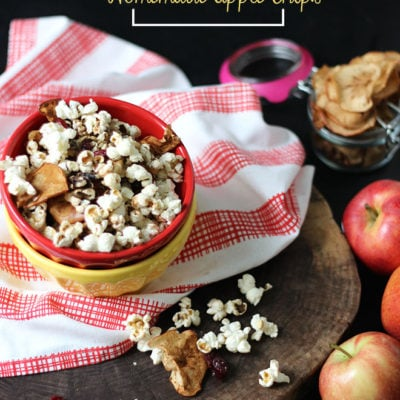 Fall Trail Mix with Homemade Apple Chips