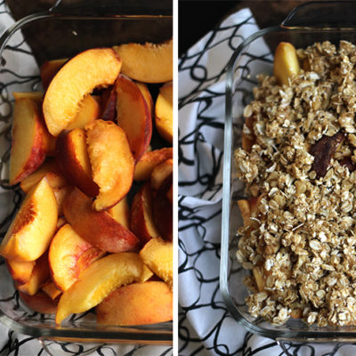 Peach Breakfast Crisp