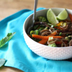 Vegan Asian Noodle Bowl with Soy Basic Sauce