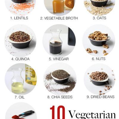 10 Essential Vegetarian Pantry Staples