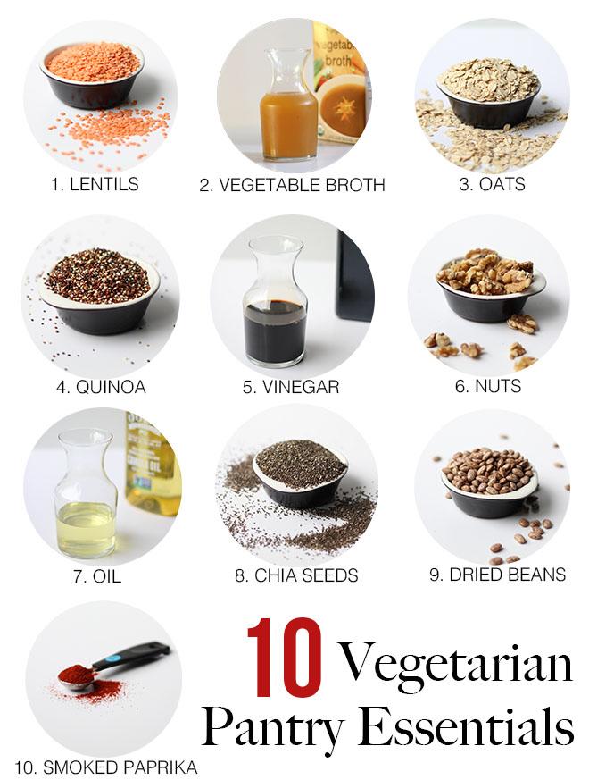 10 essential vegetarian pantry staples dietitian debbie for V kitchen restaurant vegetarian food