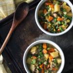 Mini Vegetarian Pot Pies | Dietitian Debbie Dishes
