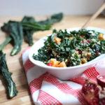 Buckwheat Kale Salad with Citrus Yogurt Dressing | Dietitian Debbie