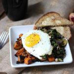 Greens and Sweet Potato Hash