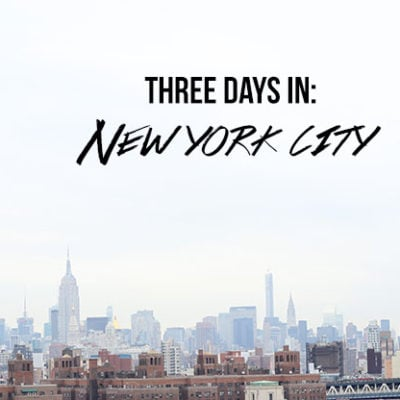 3 Days in NYC