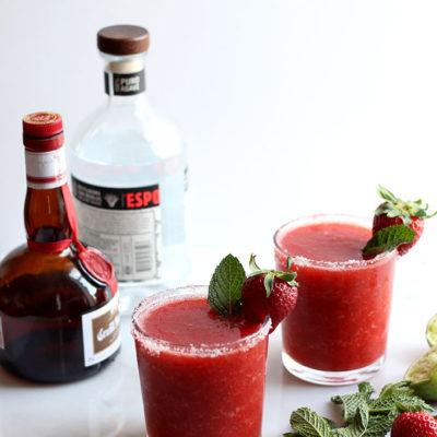 Strawberry Mint Margarita