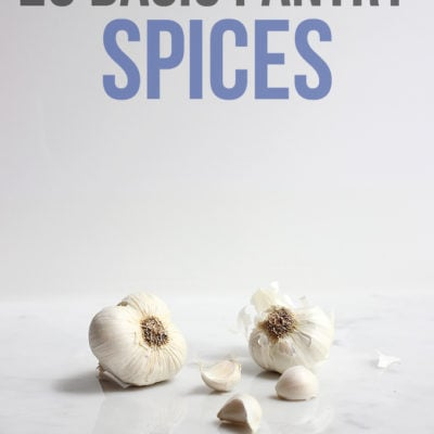 20 Basic Pantry Spices