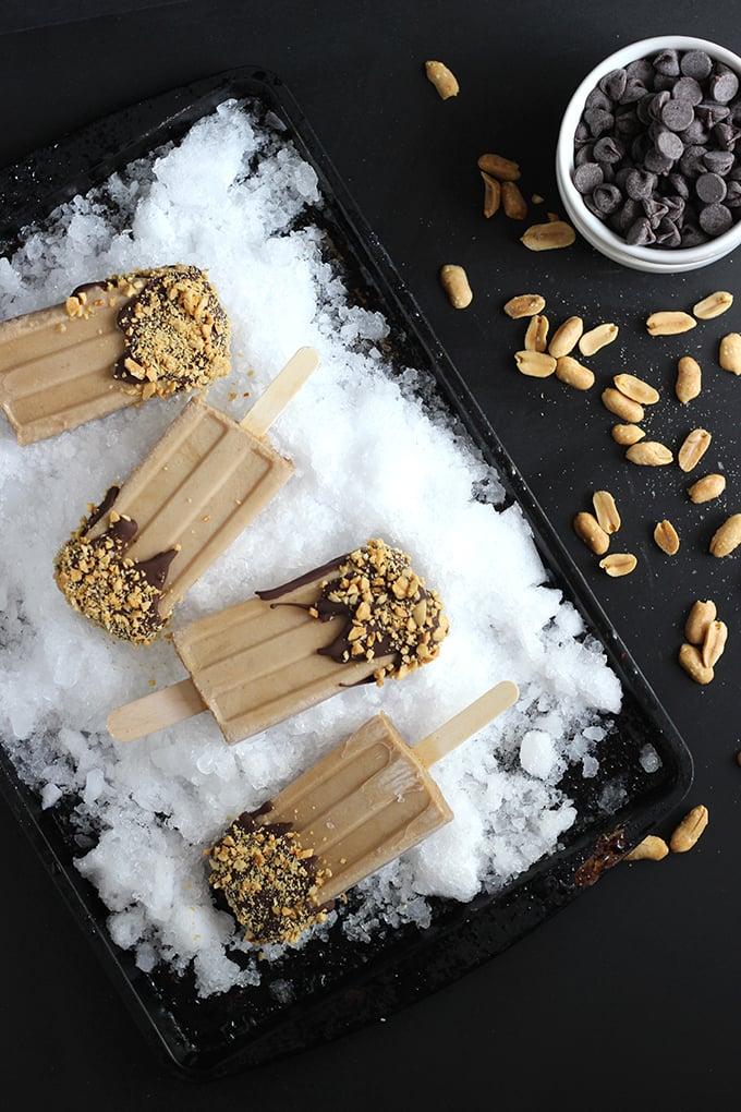 Peanut Butter Banana Popsicles #Vegan