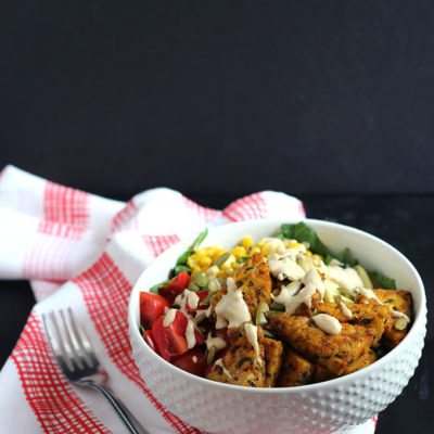 Vegan Curry Tempeh Salad