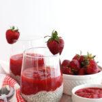 Strawberry Rhubarb Chia Pudding #Vegan #Glutenfree