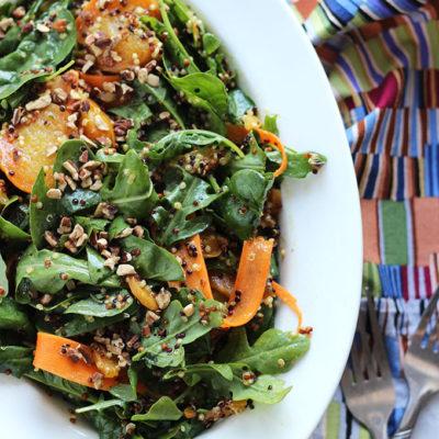 Beet, Quinoa, and Arugula Salad