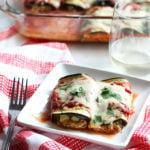 Eggplant Lasagna Rolls #vegetarian