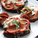 Portobello Mushroom Pizza | Dietitian Debbie Dishes