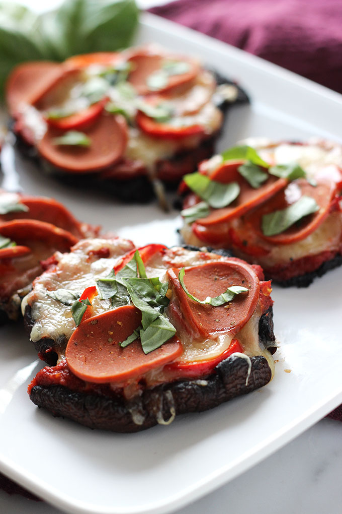 Portobello Mushroom Pizza | Dietitian Debbie Dishes