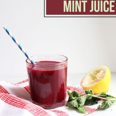 Beet, Carrot, and Mint Juice