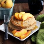 Vegan Oatmeal Pecan Pancakes