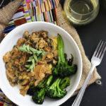 Vegan Seitan and Mushrooms with Polenta
