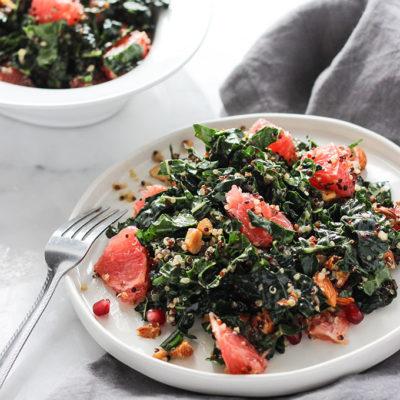 Grapefruit Kale Salad