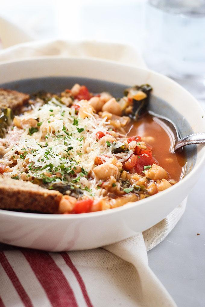 Italian Farro Soup | Vegetarian