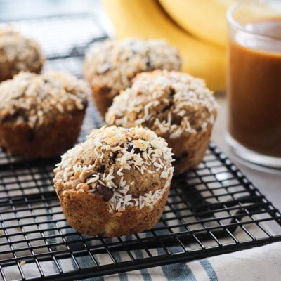 Coconut Chocolate Chip Banana Muffins