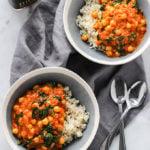 Red Pepper Chickpea Curry | Vegan, Gluten Free