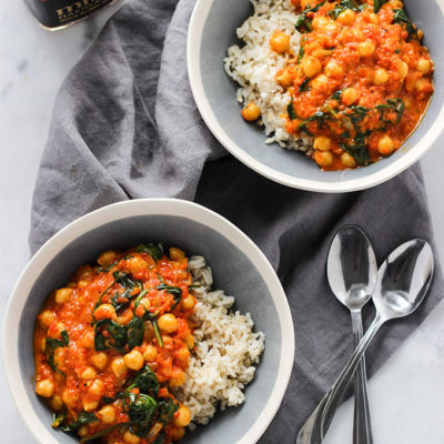 Red Pepper Chickpea Curry