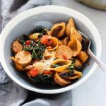 Vegetarian Sausage and Kale Pasta