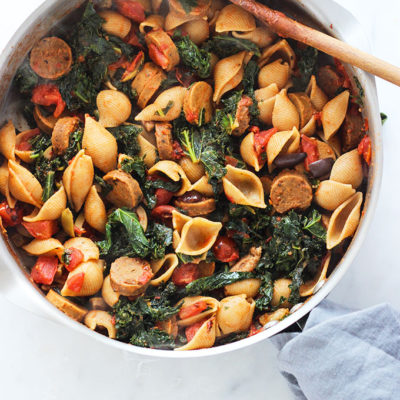 Vegan Sausage and Kale Pasta