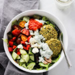 Baked Falafel with Dill Yogurt Sauce | Vegan, Gluten Free