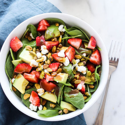 Strawberry Avocado and Farro Salad