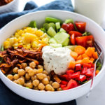 Vegan Cobb Salad with Cashew Dill Dressing