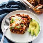 Walnut Mushroom Stacked Enchiladas | Vegetarian | #Sponsored
