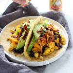 Tofu Breakfast Tacos with Coconut Bacon