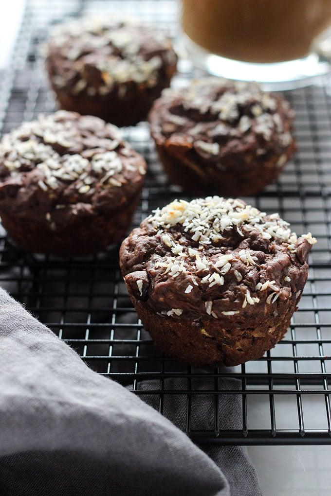 Vegan Double Chocolate Zucchini Muffins 2