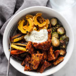 Fall Harvest BBQ Tempeh Bowl