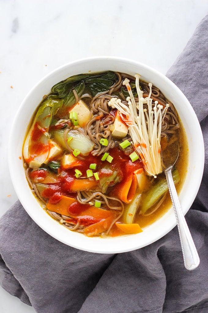 Miso Soba Noodle Soup Dietitian Debbie Dishes